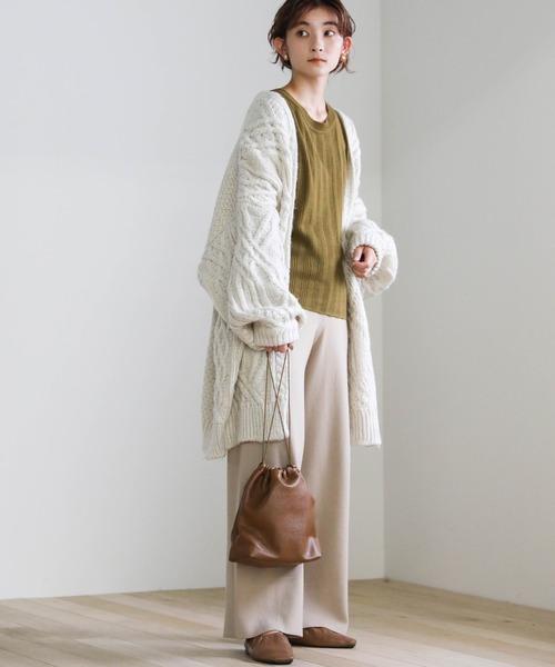 [select MOCA] 2020 A/W フェイクレザー巾着バッグ/エコーレーザコンパクトバッグ