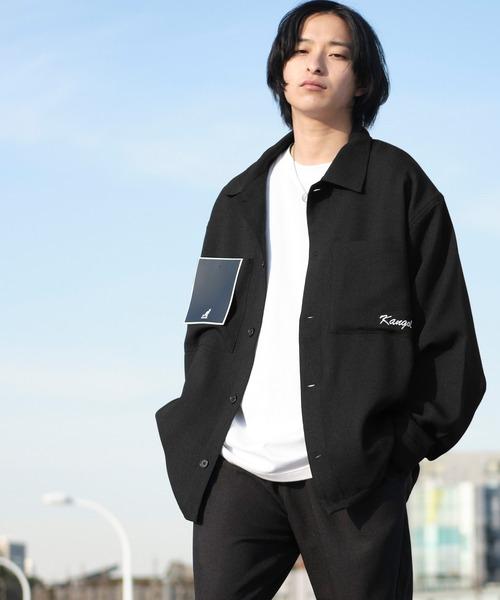 KANGOL/カンゴール MONO-MART別注 テックリネン 袖ボリューム ロゴ刺繍 オーバーサイズ CPOジャケット