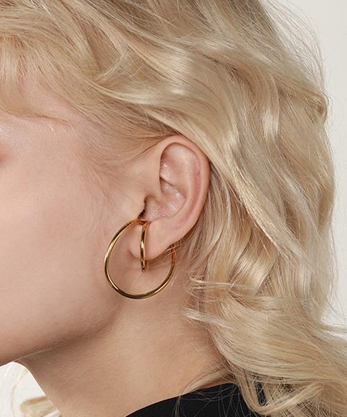 【chuclla】Twist double hoop ear-cuff cha195