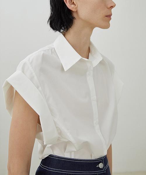 【UNSPOKEN】Over shoulder shirt UX20S665chw