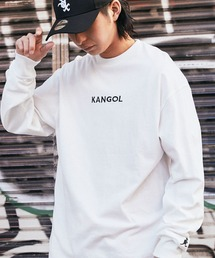 KANGOL(カンゴール)の▽WEB限定 KANGOL/カンゴール 別注ロゴ刺繍 L/S オーバーサイズカットソー(Tシャツ/カットソー)