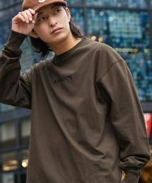 KANGOL/カンゴール コラボ 別注ロゴ刺繍 L/S オーバーサイズカットソー -2021SPRING STYLE-ダークブラウン