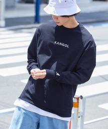 KANGOL/カンゴール コラボ 別注ロゴ刺繍 L/S オーバーサイズカットソー -2021SPRING STYLE-ネイビー