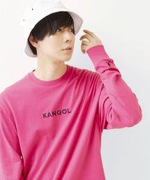 KANGOL/カンゴール コラボ 別注ロゴ刺繍 L/S オーバーサイズカットソー -2021SPRING STYLE-ピンク系その他