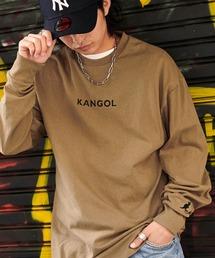 KANGOL/カンゴール コラボ 別注ロゴ刺繍 L/S オーバーサイズカットソー -2021SPRING STYLE-ダークベージュ