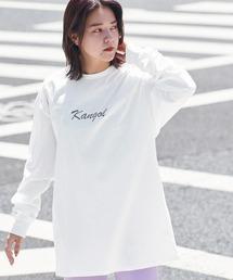 KANGOL/カンゴール コラボ 別注ロゴ刺繍 L/S オーバーサイズカットソー -2021SPRING STYLE-ホワイト系その他3
