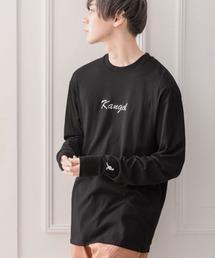 KANGOL/カンゴール コラボ 別注ロゴ刺繍 L/S オーバーサイズカットソー -2021SPRING STYLE-ブラック系その他3