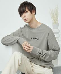 KANGOL/カンゴール コラボ 別注ロゴ刺繍 L/S オーバーサイズカットソー -2021SPRING STYLE-グレー系その他2