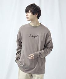 KANGOL/カンゴール コラボ 別注ロゴ刺繍 L/S オーバーサイズカットソー -2021SPRING STYLE-ブラウン系その他3