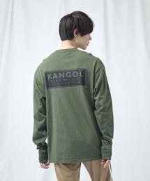 KANGOL/カンゴール コラボ 別注ロゴ刺繍 L/S オーバーサイズカットソー -2021SPRING STYLE-グリーン系その他4