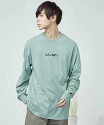 KANGOL/カンゴール コラボ 別注ロゴ刺繍 L/S オーバーサイズカットソー -2021SPRING STYLE-グリーン系その他5