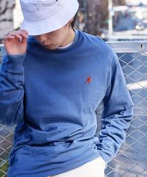 KANGOL/カンゴール コラボ 別注ロゴ刺繍 L/S オーバーサイズカットソー -2021SPRING STYLE-ブルー系その他4