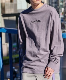 KANGOL/カンゴール コラボ 別注ロゴ刺繍 L/S オーバーサイズカットソー -2021SPRING STYLE-パープル系その他2
