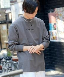 KANGOL/カンゴール コラボ 別注ロゴ刺繍 L/S オーバーサイズカットソー -2021SPRING STYLE-ダークグレー