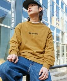 KANGOL/カンゴール コラボ 別注ロゴ刺繍 L/S オーバーサイズカットソー -2021SPRING STYLE-マスタード