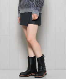 <H>FLANNEL MINI SKIRT GRAY/スカート