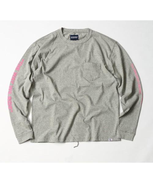 MAGIC NUMBER(マジック ナンバー)の「US COTTON PRINT L/S TEE(Tシャツ/カットソー)」 ヘザーグレー