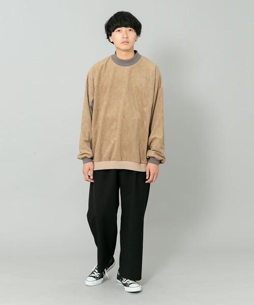 カラーブロックドスウェットシャツ