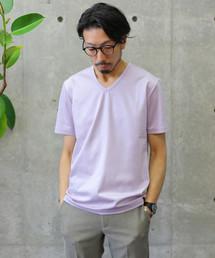 MEN'S MELROSE(メンズメルローズ)のカルゼニットTシャツ(Tシャツ/カットソー)