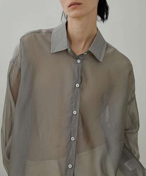 【UNSPOKEN】See-through shirt UX20S667
