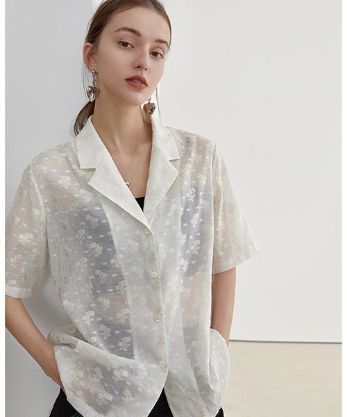 【Fano Studios】【2021SS】Floral sheer shirt FX21S058