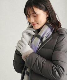 フェイクファー キリカエジャージー グローブ 手袋 -タッチパネル対応-