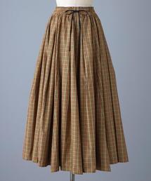 < BLAMINK(ブラミンク)> F PE CHK GATH スカート
