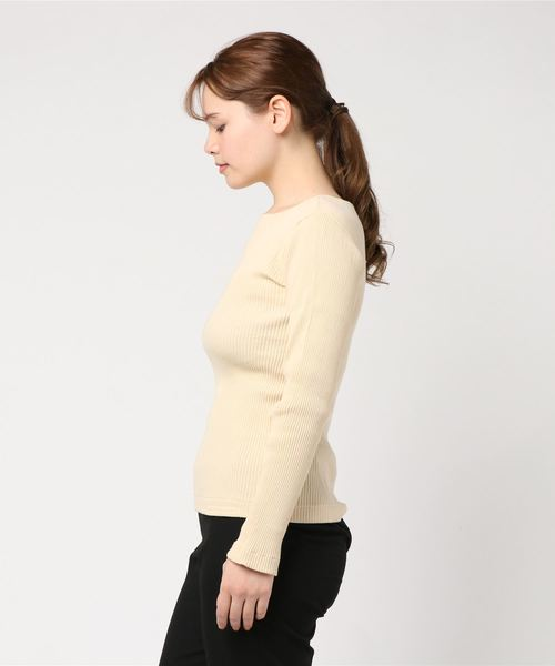 【YOUNG & OLSEN The DRYGOODS STORE】ZINC リブカットソー WOMEN