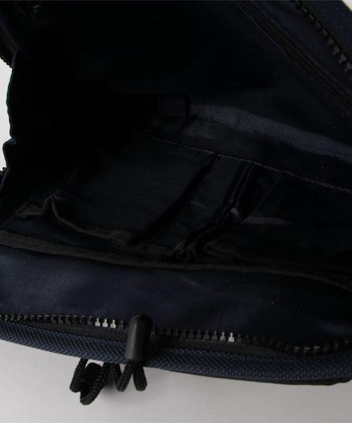 メンズL型クラッチ・ショルダーバッグ