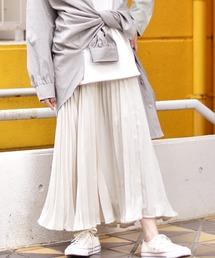ビンテージサテンプリーツスカートオフホワイト