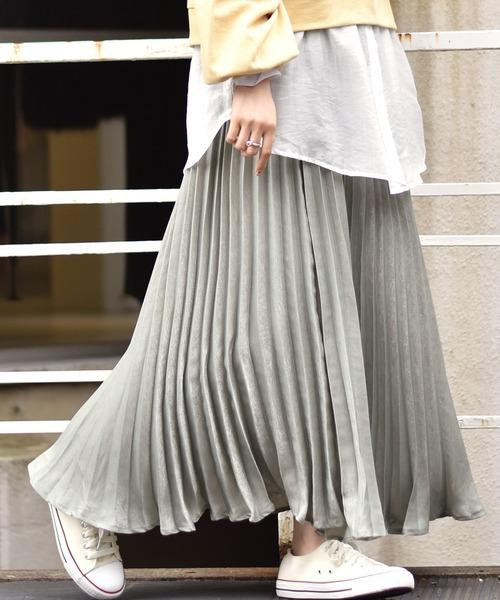 ビンテージサテンプリーツスカート