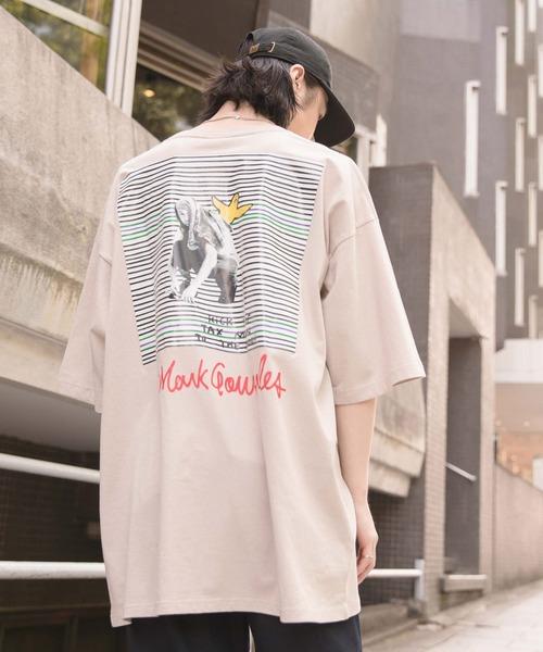 【BASQUE -enthusiastic design-】Mark Gonzales別注 ビッグシルエットプリント半袖カットソー