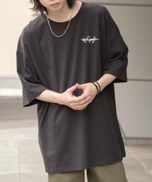 【BASQUE -enthusiastic design-】Mark Gonzales別注 ビッグシルエットプリント半袖カットソーブラック