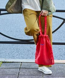 シアーストライプ2WAY巾着×トートバッグ(ショルダーバッグ)