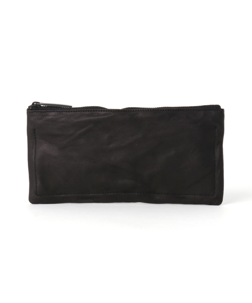 【人気沸騰】 Leather-washed long long wallet
