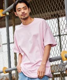 ギルダン ビッグシルエット USAオーバーサイズ 1/2スリーブTシャツ 無地T トップス Tシャツピンク