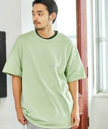 ギルダン ビッグシルエット USAオーバーサイズ 1/2スリーブTシャツグリーン系その他4