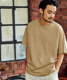 ギルダン ビッグシルエット USAオーバーサイズ 1/2スリーブTシャツ 無地T トップス Tシャツブラウン系その他