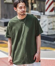 ギルダン ビッグシルエット USAオーバーサイズ 1/2スリーブTシャツ 無地T トップス Tシャツグリーン系その他