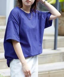 ギルダン ビッグシルエット USAオーバーサイズ 1/2スリーブTシャツ 無地T トップス Tシャツダークブルー