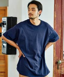 ギルダン ビッグシルエット USAオーバーサイズ 1/2スリーブTシャツ 無地T トップス Tシャツネイビー
