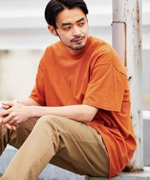 ギルダン ビッグシルエット USAオーバーサイズ 1/2スリーブTシャツ 無地T トップス Tシャツオレンジ系その他
