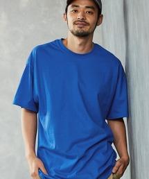 ギルダン ビッグシルエット USAオーバーサイズ 1/2スリーブTシャツ 無地T トップス Tシャツロイヤルブルー