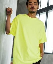 ギルダン ビッグシルエット USAオーバーサイズ 1/2スリーブTシャツ 無地T トップス Tシャツライム