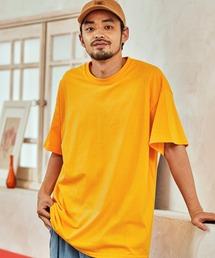 ギルダン ビッグシルエット USAオーバーサイズ 1/2スリーブTシャツ 無地T トップス Tシャツゴールド