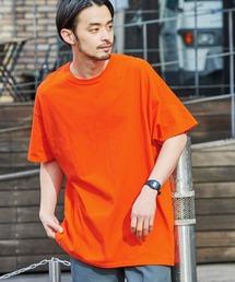 ギルダン ビッグシルエット USAオーバーサイズ 1/2スリーブTシャツオレンジ