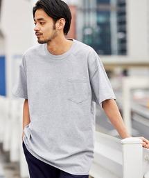 ギルダン ビッグシルエット USAオーバーサイズ 1/2スリーブTシャツ 無地T トップス Tシャツグレー系その他2