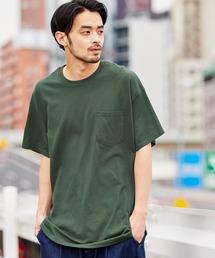ギルダン ビッグシルエット USAオーバーサイズ 1/2スリーブTシャツグリーン系その他3