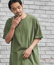 ギルダン ビッグシルエット USAオーバーサイズ 1/2スリーブTシャツグリーン系その他6