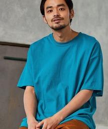 ギルダン ビッグシルエット USAオーバーサイズ 1/2スリーブTシャツ 無地T トップス Tシャツブルー系その他4